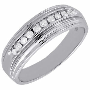 Mens Diamond Wedding Band 925 Sterling Silver Engagement Ring 0 25 Ct Ebay