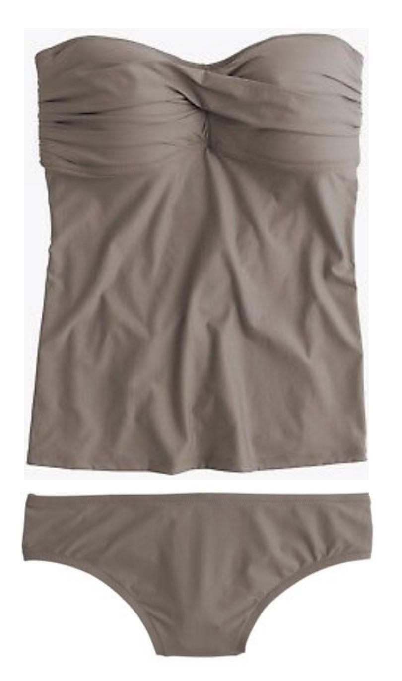J. CREW D-Cup  Twist Front Swing Tankini tierra Top Parte inferior de bikini B5811 B6759 M  venta de ofertas