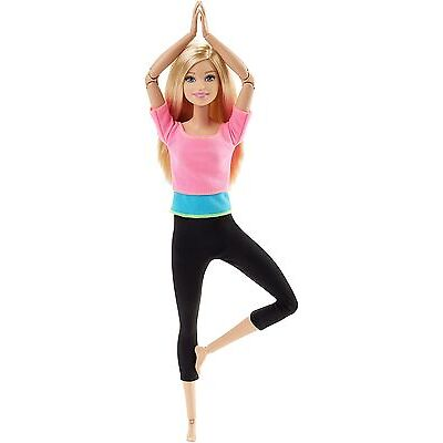 Barbie Endless Moves Doll With Pink Top Fitness Gymnastics Doll New