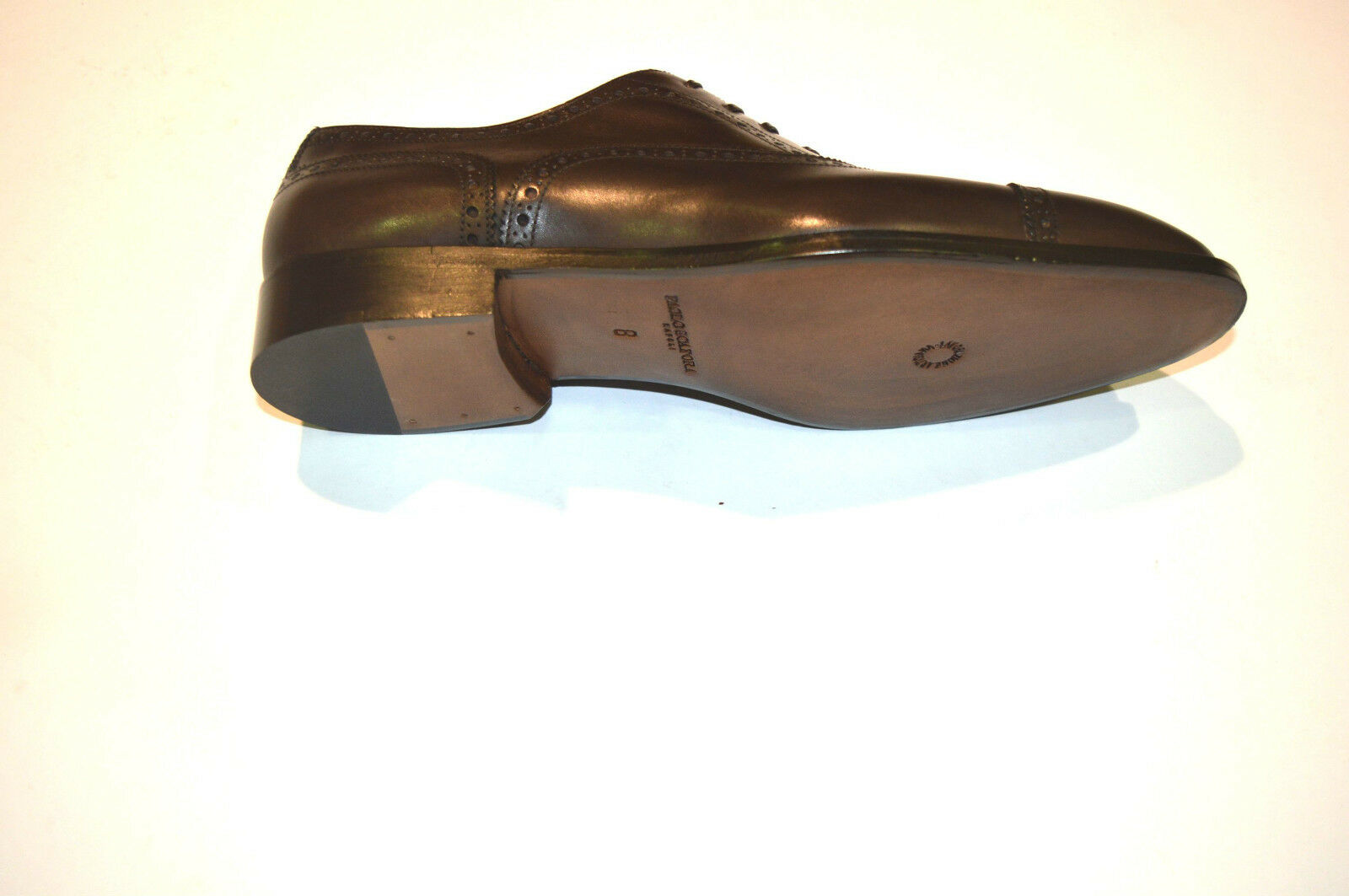 New PAOLO SCAFORA Dress Leather Leather Leather Luxury shoes Size Eu 41.5 Uk 7.5 Us 8.5 (Cod 5) 61d092
