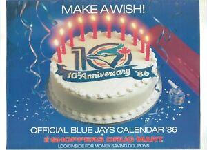 Tremendous 1X Toronto Blue Jays Official Calendar 1986 Shoppers Drug Mart Funny Birthday Cards Online Benoljebrpdamsfinfo