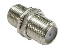 F Plug Type Female to Female Screw Connector Socket -Socket Coupler Joiner + NUT