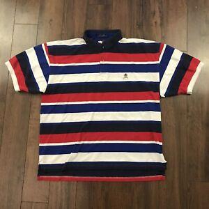db13dd5b Tommy Hilfiger Vintage 90's Color Block Stripe Polo Shirt SZ XL ...