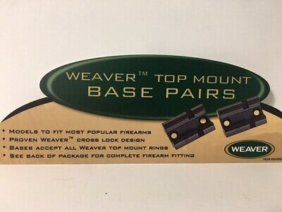 NEW Weaver 2-Piece Top Mount Base Winchester 70 Matte 48468