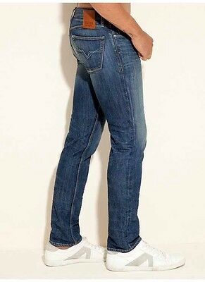 Guess Lincoln Slim Straight In Walker Wash Cotton/Polyester Denim Size 28X32