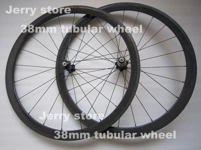 Carbon wheels 700C carbon  fiber bicycle wheel set,carbon 38mm Deep tubular  exclusive designs