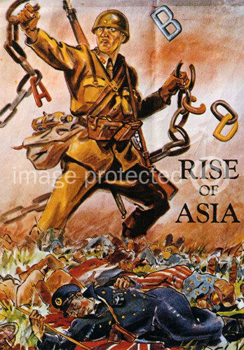 Rise Of Asia Japanese World War Two Propaganda Poster