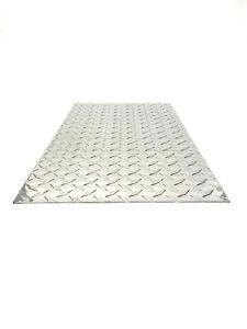 ".063 1//16/"" Aluminum Diamond Plate Sheet Plate 4/"" x 4/"" set of 4"