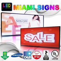 Full Color Led Sign 25 X100 Double Sided 10mm Programmable Message Outdoor P10