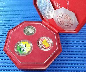 2015-Singapore-Lunar-Goat-Series-Coin-Set-2-10-Silver-Piedfort-Proof-Coin