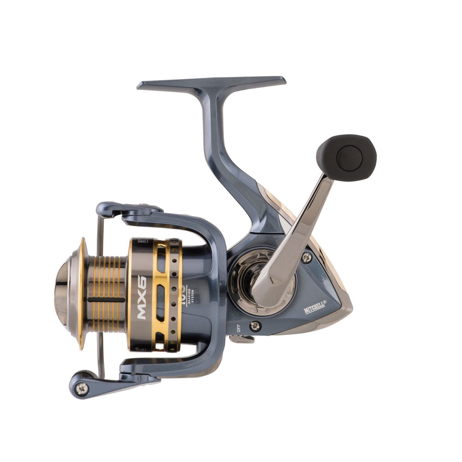 Mitchell NEW MX6 Spinning Fishing Reel - 10 Stainless Ball Bearings - All Sizes