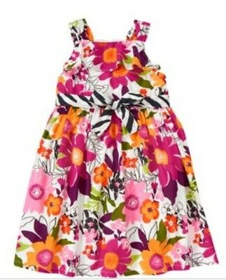 New Gymboree Wild For Zebra Baby Toddler Girl's Sun Dress Floral Print Size 3