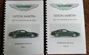 aston martin db7 v12 vantage volante workshop manual 1999 to 2003 rh ebay co uk aston martin db7 workshop manual free aston martin db7 workshop manual pdf