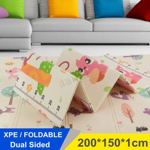 2-Side XPE Foldable Baby Floor Play Mat Crawl Creeping Alphabet Animal