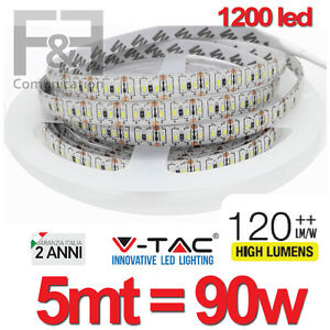 Striscia a luce led adesiva smd 3014 strip 5 metri 1020 for Luce led striscia