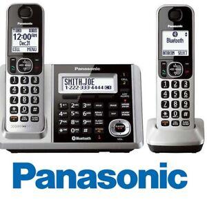 Panasonic-KX-TGF372S-Link2Cell-Bluetooth-2-Cordless-Phones-w-Answering-Machine
