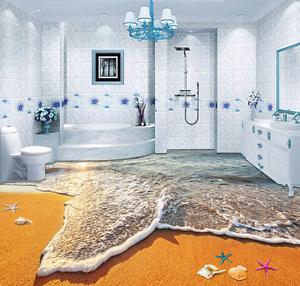 3D Landscape Beach 64 Floor WallPaper Murals Wall Print 5D AJ WALLPAPER AU Lemon