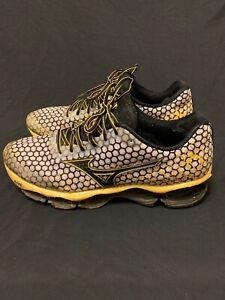 Mizuno-Wave-Prophecy-4-Running-Shoes-Men-039-s-Size-12-Yellow-Black-J1GC150012