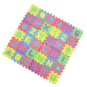3a652553b4 Caricamento dell'immagine in corso Set-Tappeto-Tappetino-Puzzle-26-Lettere -Alfabeto-10-