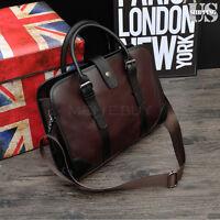 Men's Leather Pu Business Handbag Satchel Shoulder Messenger Bag Bag Briefcase