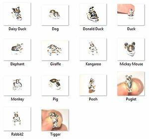 SILVER-PLATED-EUROPEAN-BEAD-CHARM-Various-styles-including-Disney-characters