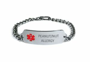 Image Is Loading Peanut Nut Allergy Medical Alert Id Bracelet Free