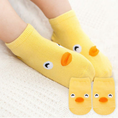 NEW Infant Baby Child Ankle Socks Cartoon Chick Easter Anti Slip Socks SIZE S