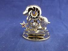 Crystocraft Aries the Ram Sculpture with Strass Swarovski Crystals.