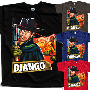 597658854 Django V3, movie poster, T SHIRT BLACK NAVY BROWN RED all sizes S to ...