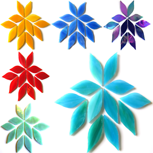 Piccoli-Petali-Di-Vetro-Colorato-per-mosaico-Arti-e-Mestieri-50-G-VARI-COLORI