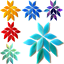 Piccoli-Petali-Di-Vetro-Colorato-per-mosaico-Arti-e-Mestieri-50-G-VARI-COLORI miniatura 1