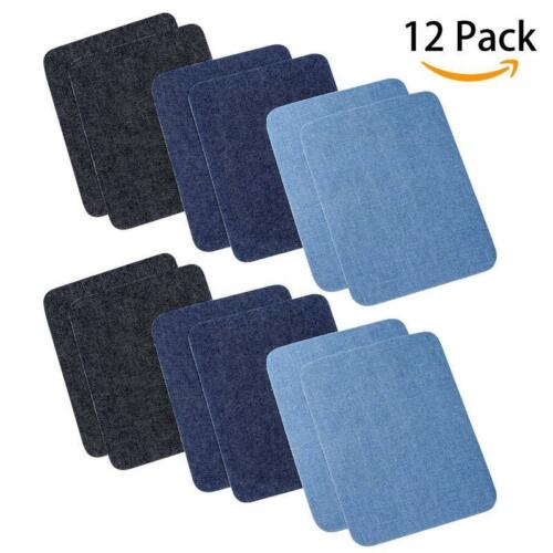 DIY Iron On Sew On Denim Patches For Clothing Jeans Jackets Bags BT3