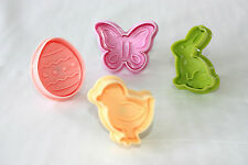 Easter Ejector Plunger Cutters, 4 in Pack, Decorate Pie Crusts use with Fondant