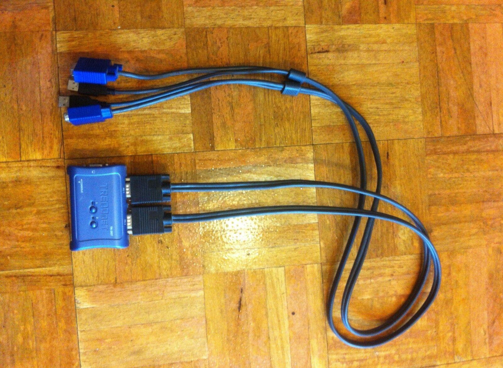 TRENDnet Tk207 2-port USB KVM Switch Cable Kit Used