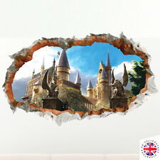 3D HARRY POTTER HOGWARTS Wall Sticker Vinyl Mural Poster Bedroom Boys Girls