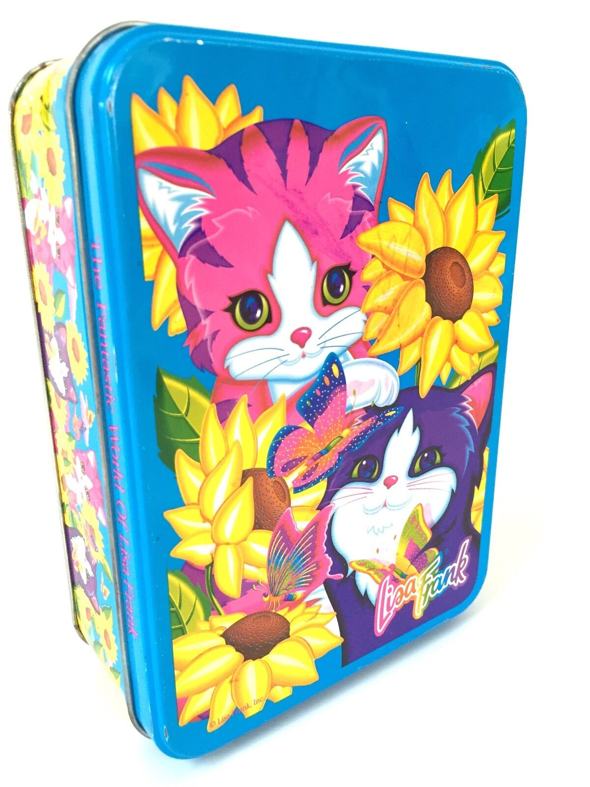 Lisa Frank Sunflower Kittens Collector Tin Playtime Cat Kaylen Vtg 90s Metal Box