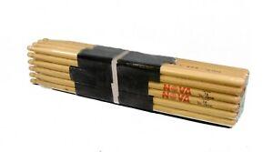 12-paire Brique Vic Firth Nova 7 A Wood Tip Drum Sticks N7a Hickory Vrac-afficher Le Titre D'origine