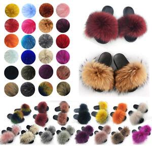 100-Real-Fur-Flat-Shoes-Fluffy-Flip-Flop-Slippers-Women-Slider-Sandal-Wholesale