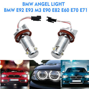 BMW-E92-E93-M3-E90-E82-E60-E70-E71-LED-Angel-Eye-Halo-Ring-Light-H8-Bulb-Canbus