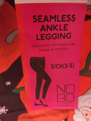 NWT No Boundaries Christmas Ankle Leggings Seamless Size Juniors S 3-5 Red