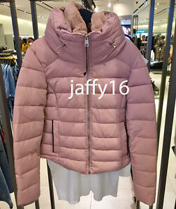 8ba307cdc Details about ZARA NEW WOMAN QUILTED JACKET WITH HIDDEN HOOD PINK XS-XXL  REF. 8073/249