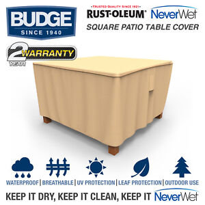 Details about rust oleum neverwet square patio table cover multiple sizes waterproof image is loading rust oleum neverwet square patio table cover multiple watchthetrailerfo