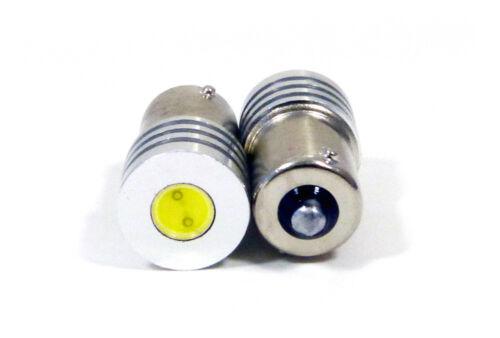 Red LED Car Bulbs Socket: BA15S 2 Pack BA15  1W High Output Low Profile
