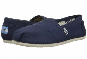 Toms-Ladies-Slip-On-Shoes-Classic-Alpargata-Navy-Canvas