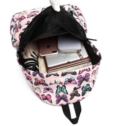 Canvas Travel Rucksack Backpack Ladies Girls School Bag and Pencil Case