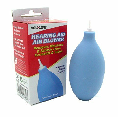 4 Pk Hearing Aid Air Blower Cleaner Remove Moisture Earwax From Earmold & Tubes