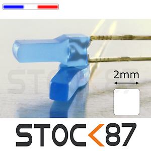387B# 10 à 100pcs LED carré 2mm bleu diffusant blue diffused LED