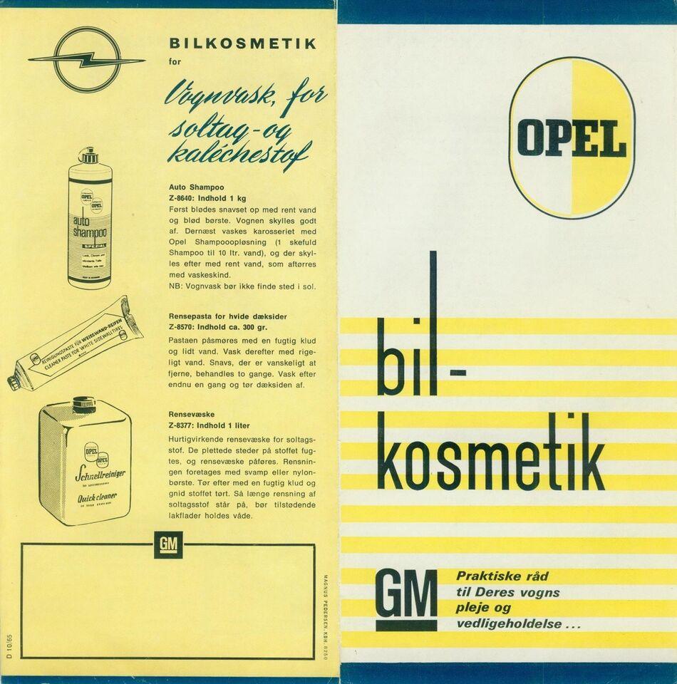 Brochure, Opel