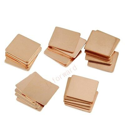 10pcs 20mm x20mm x0.5mm Copper Pad Shim Heatsink For IC GPU Chip Cooler Cooling