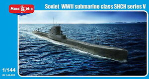 Mikro Mir 144-005 Soviet WWII submarine class SHCH series V 1/144 scale model